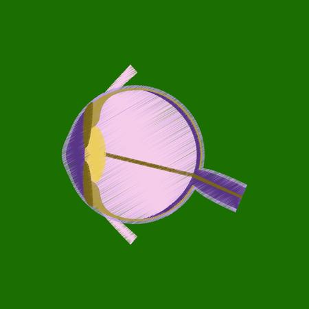 flat shading style icon eye