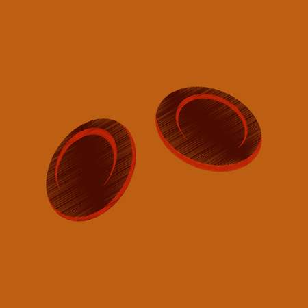 corpuscle: flat shading style icon blood cells