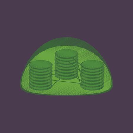 flat shading style icon chloroplast