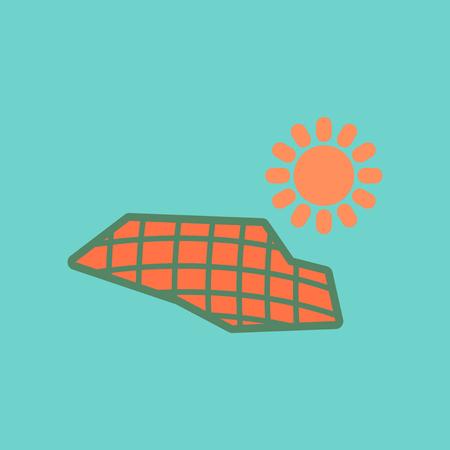 flat icon on stylish background solar panels
