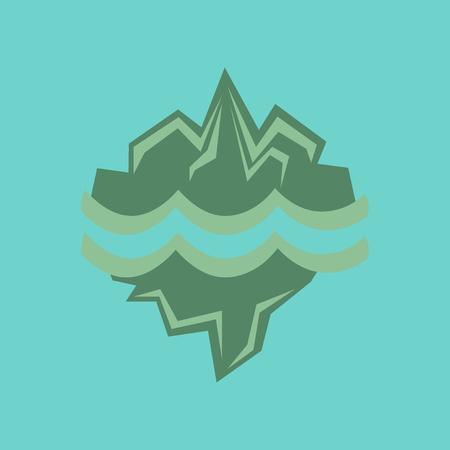 antarctica: flat icon on stylish background melting glacier Illustration