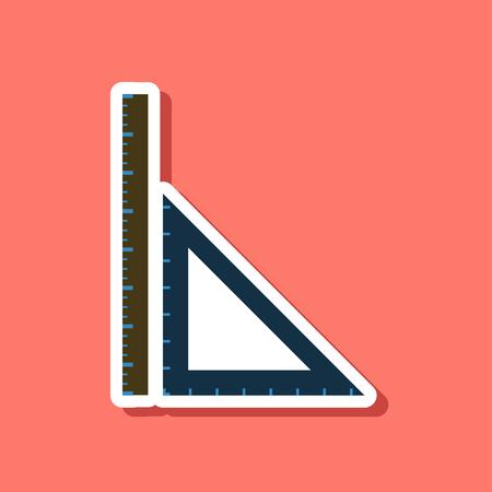 millimeters: paper sticker on stylish background ruler Illustration