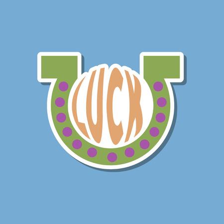 luckiness: paper sticker on stylish background good luck logo