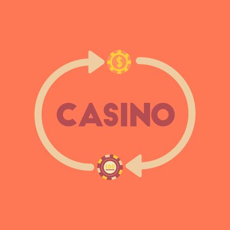 flat icon on stylish background casino chips