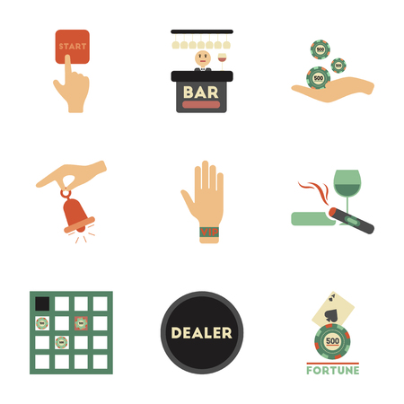 wagers: assembly flat icons poker game