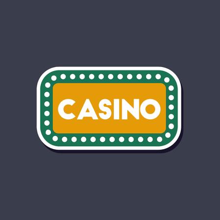 nevada: paper sticker on stylish background casino sign