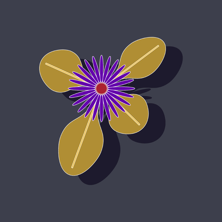 paper sticker on stylish background plant Bellis