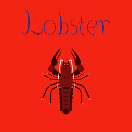 crab meat: flat illustration on background seafood lobster