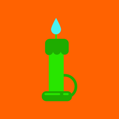 flat icon on background of wax candle Illustration