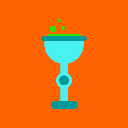 elixir: Flat icon on background of cup potion