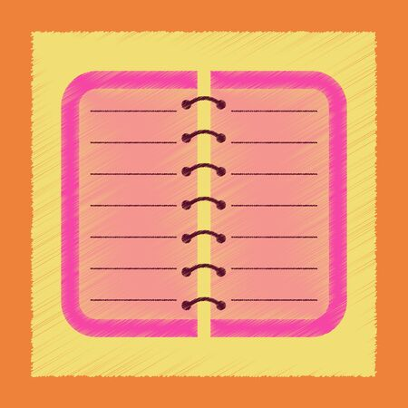 open notebook: Flat shading style icon spiral notepad notebook