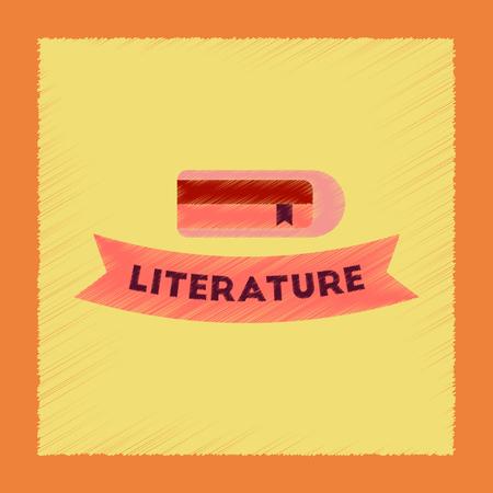 Flat shading style icon Literature lesson