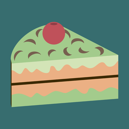 fruitcakes: Sweet dessert in flat design Berry cake
