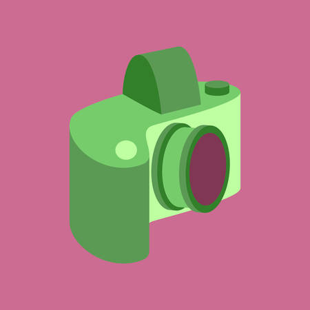 photography equipment: Technology gadget in flat design camera Illustration