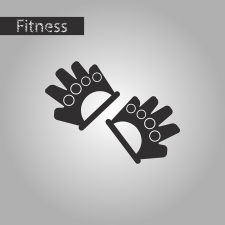 Black and white style icon Gloves for the gym