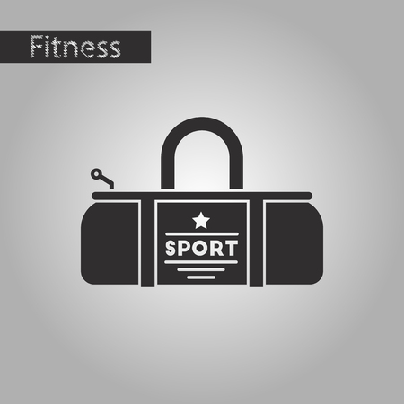 polyester: Black and white style icon Sports bag Illustration