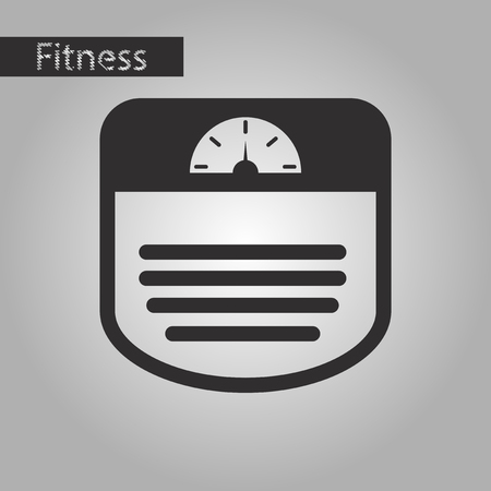analog weight scale: Black and white style icon Sports scales Illustration