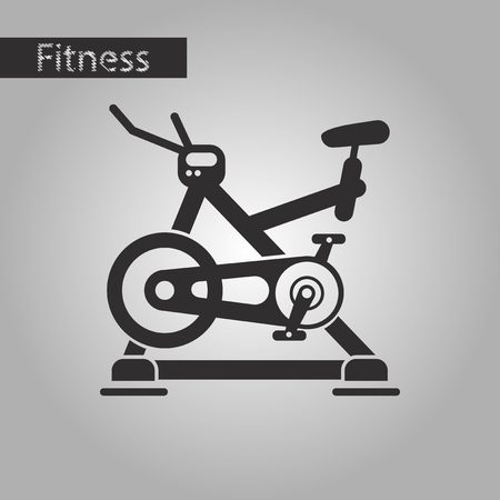 Black and white style icon Bicycle exercise