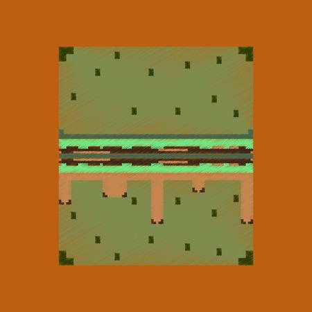 flat shading style icon pixel burger