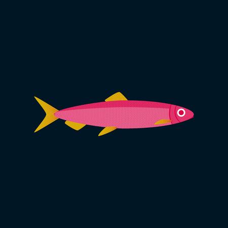 Vector illustration in flat style herring