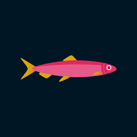 Vector illustration in flat style herring