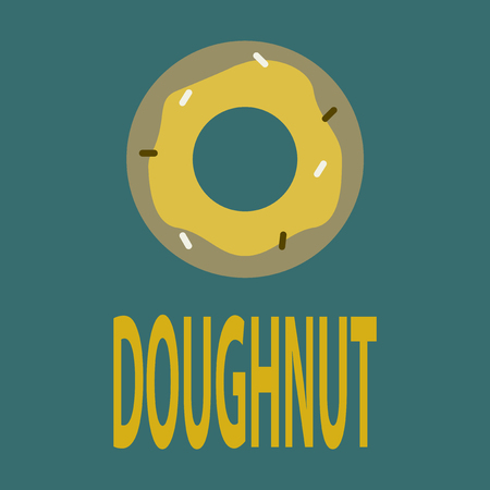 A Vector illustration of flat icon donut logo Illustration
