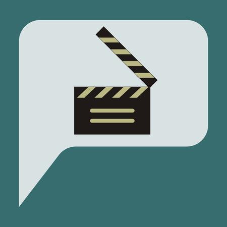 Vector illustration of flat icon film slapstick Иллюстрация