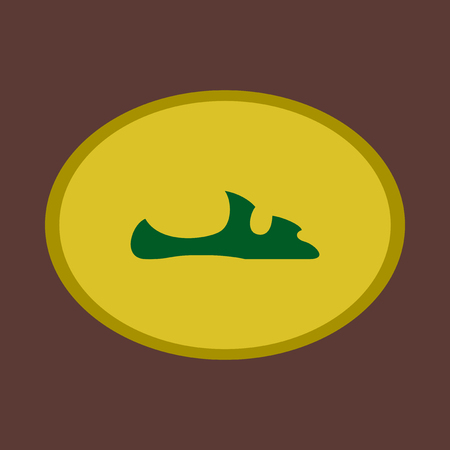 Icon in flat design fashion footwear flip flops