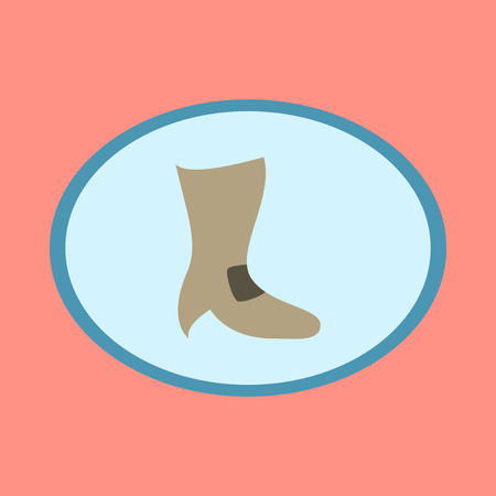 high heel shoe: Icon in flat design fashion footwear High-heeled boots