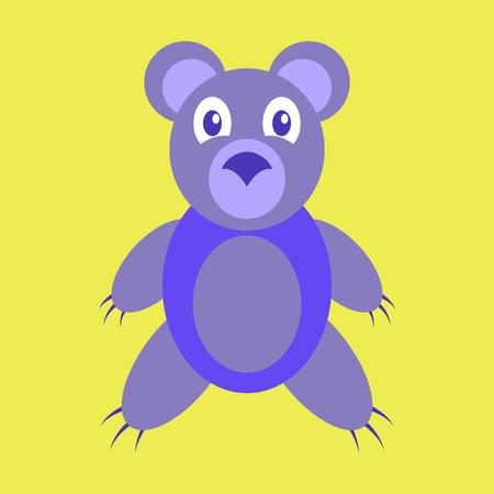 cute bear: Icon in flat design toy bear