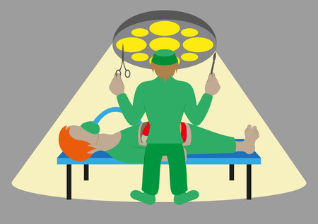 Vector medical concept Surgeon in operation Illustration