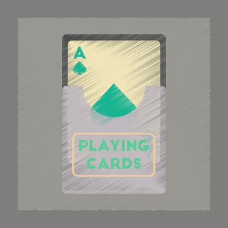 flat shading style icon playing cards Illustration