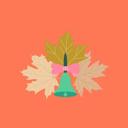 intruder: flat icon on stylish background Alarm school bell Illustration