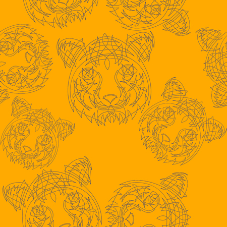 pattern: Abstract tiger pattern jungle