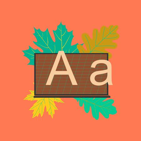flat icon on stylish backdrop learning blackboard leaves