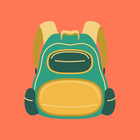 bookbag: flat icon on stylish backdrop fashionable bag