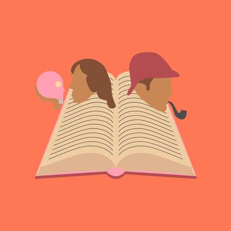 flat icon on stylish background book classics