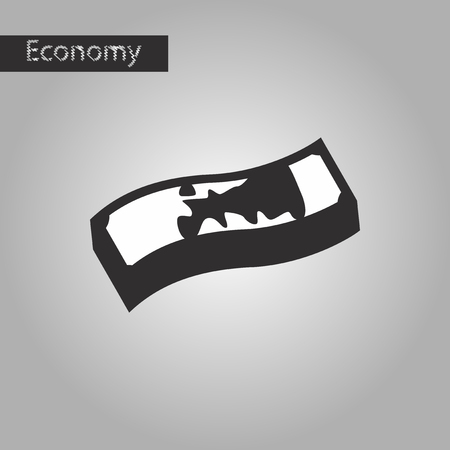 euromoney: black and white style icon dirty money