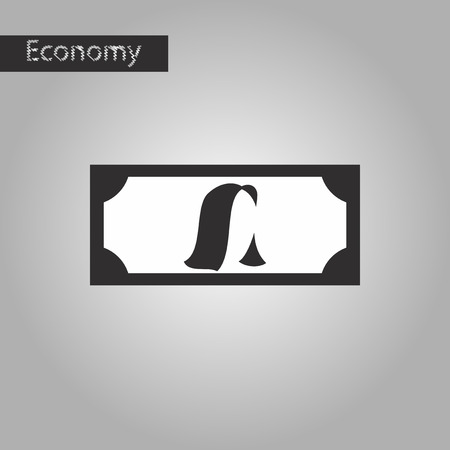 black and white style icon currency