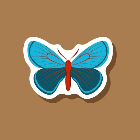 chitin: fly paper sticker on stylish backdrop Illustration