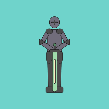 flat icon on stylish background Kids toy child soldier Knight Illustration