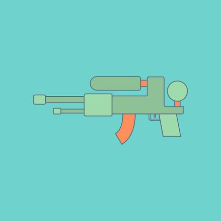 flat icon on background Kids toy water gun