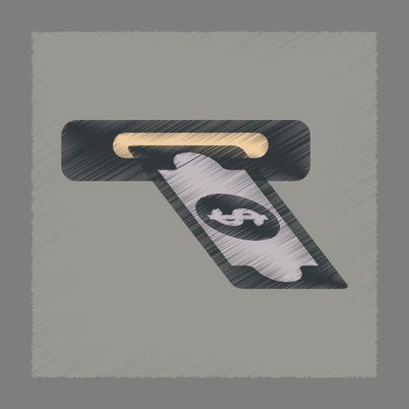 flat shading style icon poker dollar money