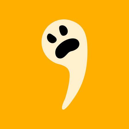 flat icon stylish background Halloween ghost