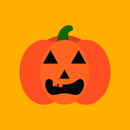 flat icon stylish background halloween pumpkin Illustration
