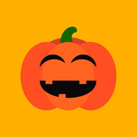 flat icon stylish background halloween pumpkin Illustration
