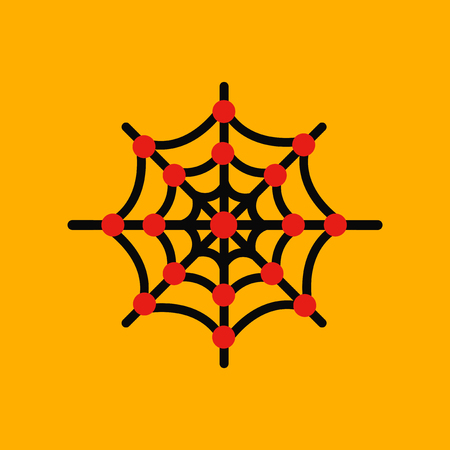 flat icon stylish background spiders web