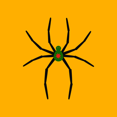 flat icon stylish background halloween spider