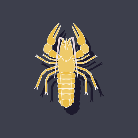 paper sticker on background of lobster