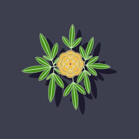 botan: paper sticker on background of flower paeonia